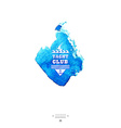 Yacht club logoWatercolor vector image vector image