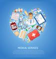 medicine and healthcare concept vector image