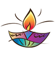Indian diwali lamp vector image