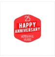 25 Anniversary badge sign and emblem in retro vector image vector image