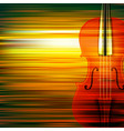 abstract green blur music background with violin vector image vector image