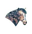 abstract horses head triangulation vector image
