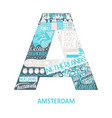 amsterdam abstract sight map vector image