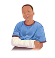 Arm in cast vector image vector image