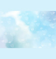 blue watercolor blurred heart bokeh background vector image vector image