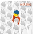 Choice person for hiring vector image vector image