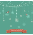 Christmas background with birds vector image