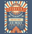 circus retro poster best in show announcement vector image vector image