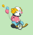 clown on bike vector image