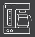 coffee maker line icon kitchen and appliance vector image