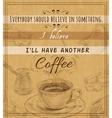Coffee set retro poster vector image vector image