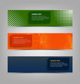collection abstract banners with different vector image