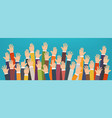 concept of raised up hands vector image vector image