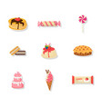 confectionery and dessert set vector image