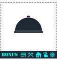 Covered Food icon flat vector image