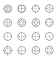 crosshair reticle line icons set isolated on vector image