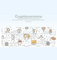 cryptocurrency advertising concept flat vector image vector image
