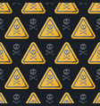 danger sign flat seamless pattern vector image vector image