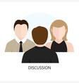 Discussion Icon Flat design Concept vector image