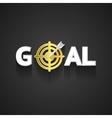 Elegant Goal Logo Design on Gray Background vector image