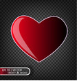 festive of falling red heart vector image vector image