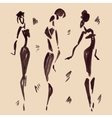Figures of african dancers Hand drawn vector image vector image