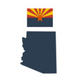 flag us state arizona and map vector image