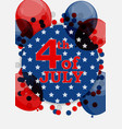 fourth of july independence day of the united vector image vector image