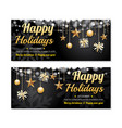 greeting card merry christmas party poster banner vector image