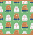 hand bag female fashion backpack seamless pattern vector image