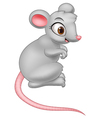 Happy mouse cartoon vector image