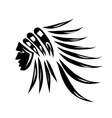 Head of indian chief black silhouette for your