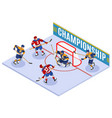 hockey championship isometric composition vector image vector image