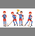 ice hockey man player sports concept vector image