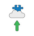 icon concept jigsaw puzzle piece on cloud with vector image