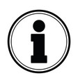 information icon icon 24 hour black vector image vector image