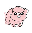 isolated cute standing pig vector image vector image