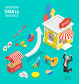 isometric flat concept small business vector image vector image