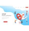 isometric flat laning page template stop vector image