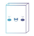 kawaii paper bag in degraded blue to purple color vector image vector image
