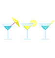 margarita cocktail in glass long leg with umbrella vector image vector image