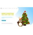 merry christmas and happy new year web page online vector image vector image
