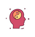 mind icon design vector image