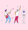 modern cartoon flat characters musical band vector image