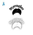 Movember Badge November mustache hand lettering vector image