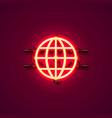neon icon internet signboard vector image