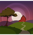 Night Farm Landscape vector image vector image