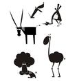 Original art animal silhouettes vector image vector image