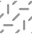 pencil with eraser line icon seamless pattern vector image