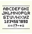 Pixel art style font isolated